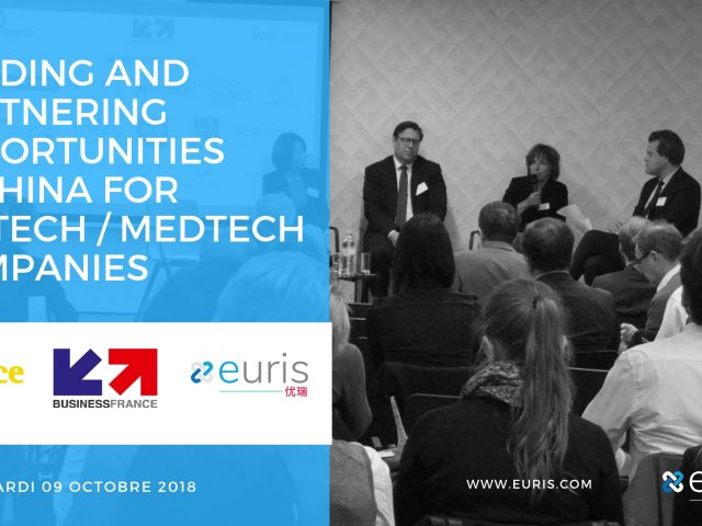 Funding and partnering opportunities in China for biotech medtech companies