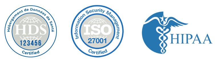 Certification Conformité Hébergeur de données de santé : HDS, ISO 27001, HIPAA