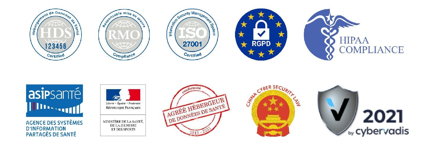 logos certifiactions